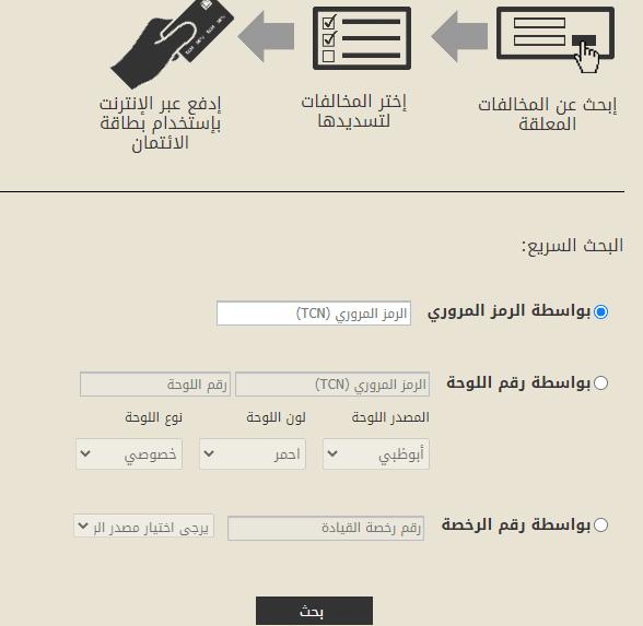 الاستعلام النقاط السوداء على رخصة القيادة في الامارات