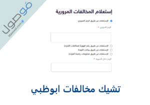 Read more about the article تشيك مخالفات ابوظبي